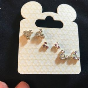 Disney parks New Crystal Mickey Earrings